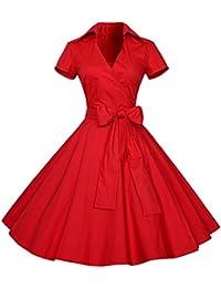 E-Girl M120718D Robe de bal Vintage pin-up 50's Rockabilly robe de soirée cocktail,S-XXXXL