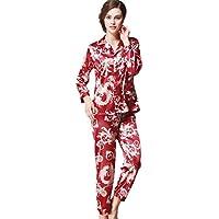 GJX Donna estate raso seta pigiama PJs insieme