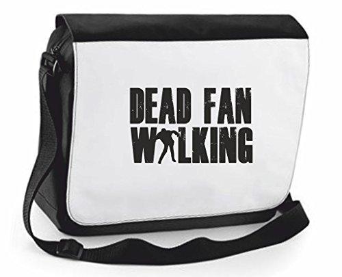 Dead Ventola Walking Zombie Cover Borsa a tracolla Crossbody Borsa Viaggio scomparti, Black, Large (nero) - SB-dead-fan-Black-L