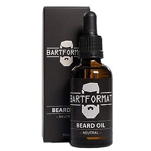 BARTFORMAT Bartöl (50 ml) Geruchsneutral – Bartpflege Öl für einen Weichen Bart – mit Jojoba, Aloe Vera und Kamillen Öl