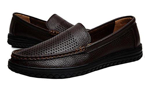 2017 nuovo primo strato di scarpe casual da uomo piede di vera pelle sandali vuoti 2