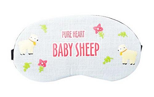 2 Stück atmungsaktive Augenmasken für Schlaf Licht Shading Leichtigkeit Augenermüdung, Baby Schafe
