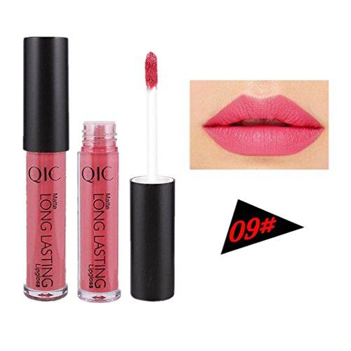 Brillant à lèvres, GreatestPAK Liquide à lèvres imperméable longue durée mat 12 couleur (09#)