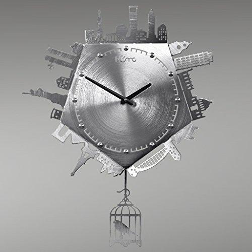 HCJGZ JCRNJSB® Home Swing Uhr Metall Wanduhr Personalisierte Uhren Wohnzimmer Wanduhr Wandhalterung Uhren Wanduhren Quarzuhr -
