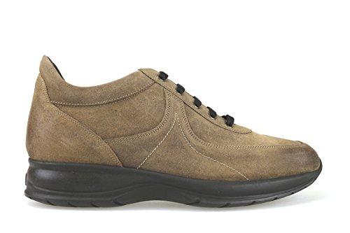 scarpe uomo 1° CLASSE ALVIERO MARTINI sneakers marrone camoscio AK838 (45 EU)
