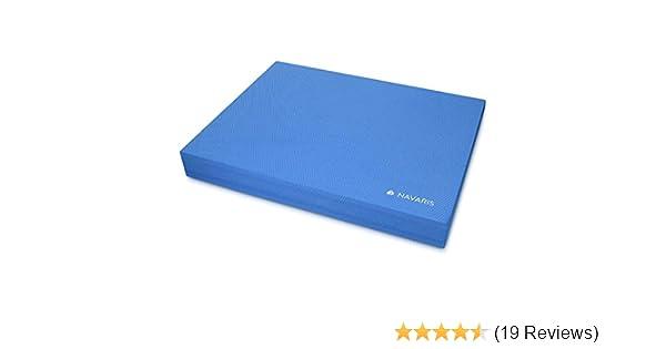 Balance Pad Board Balancekissen 50 x 39 x 6,5 cm TPE Schaumstoff Matte Blau