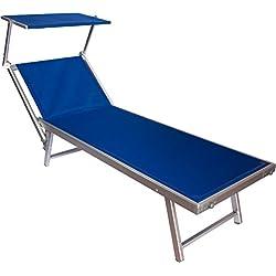 Joy Summer - Hamaca de aluminio VIP robusta, para tomar el sol en la playa, la piscina