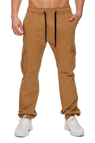 TAZZIO Styler Chino-Hose ChiNoHose Cargo-Hose Slim Fit 16610 Camel