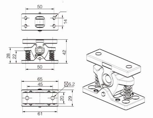 MASO Retenedor de puerta de aleaci/ón de zinc para caravanas autocaravanas y barcos