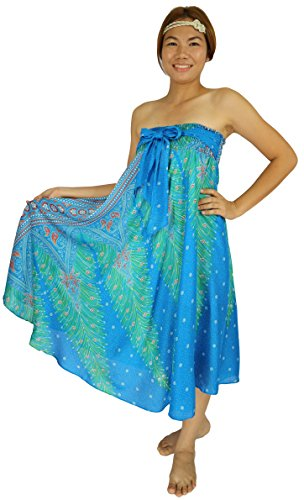 Arika Damen A-Linie Rock One size Gr. One size, Peacock Blue Ocean (Petite-denim Rock A-linie)