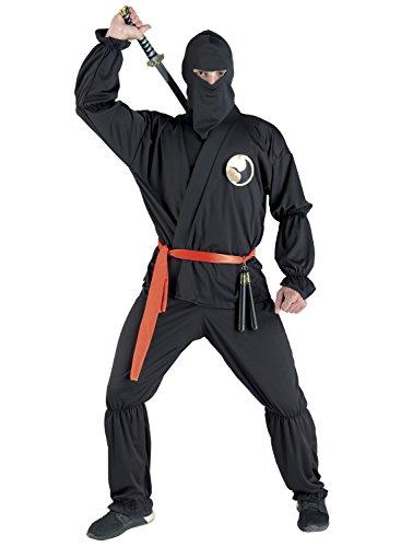 chiber Disfraces Disfraz de Guerrero Ninja para Adulto. Talla Única (M/L)
