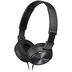 [Cable] Sony MDR-ZX310APB - Auriculares de diadema cerrados (con micrófono, control remoto integrado), negro