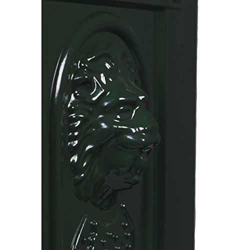 Antiker großer und sehr edler Briefkasten SLY 03 Standbriefkasten, Säulenbriefkasten, Nostalgischer Englischer Briefkasten Alu – Guss 102 cm hoch . Mit Postfacherweiterung für mehr Volumen. - 4