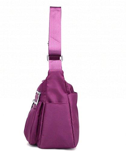 Frauen Tasche Nylon Tasche Umhängetasche Tasche Oxford Tasche Leinwand Reise Freizeit Umhängetasche Purple
