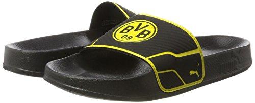Puma Leadcat TS BVB Beach   Pool Shoes  Black-Cyber Yellow  8 UK