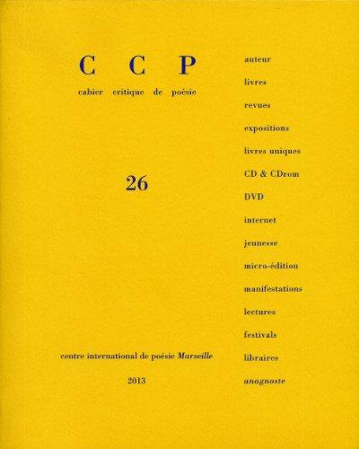 Cahier critique de poésie, n° 26