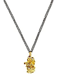 Mehrunnisa Contemporary Radha Krishna Pendant With Crystals Mangalsutra Necklace For Women (JWL1866)