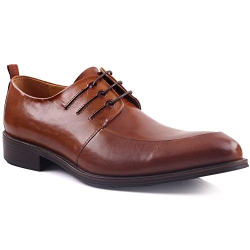Unze F眉r M盲nner Simki 'Leder Elegante Schuhe - XT700-W02 Braun