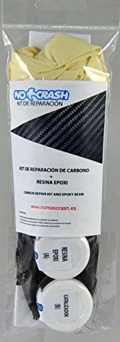 Kit XL Fahrradreparatur Schaufeln Padel, Surf, etc-15cm Carbon Repair Kit + Resin and Gloves
