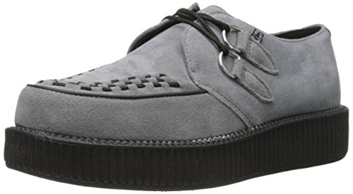 T.U.K.Low Sole Round Creeper - Zeppa Unisex - Adulto Grigio
