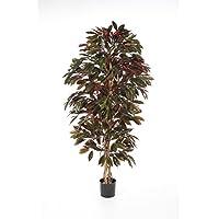 Kunst Vrisiea BENICIA 30cm gelb-orange künstliche Zierpflanze // Kunstblume