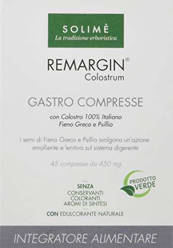 Remargin Colostrum Gastro Integratore in compresse per il sistema digerente con Fieno Greco e Colostro 45 compresse da 450 mg - Prodotto erboristico made in Italy