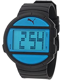 Puma Time Herren-Armbanduhr Half Time L Black Blue Digital Quarz Plastik PU910891001