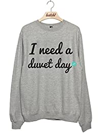 Batch1 I Need A Duvet Day Bedroom Lay In Pajamas Womens Sweatshirt Jumper