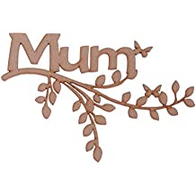 Regalo para el día de la madre de madera DM rama Forma–'Mum' Regalo para el día de la madre, familia rama de árbol