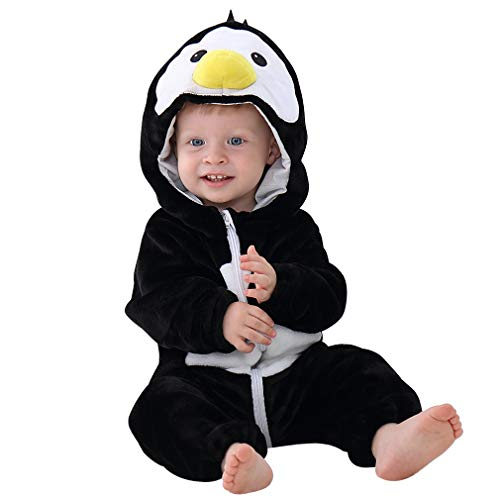 MICHLEY Baby Unisex Flanell Babykleidung, mädchen und Junge Pyjama kostüm Bekleidung für Kinder von 19-24 - Geld Tasche Kostüm Baby