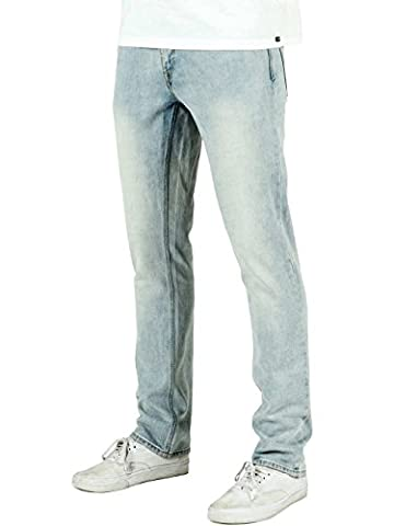 Volcom Vorta Denim, Color: Sure Shot Light Wash, Size: 30 32
