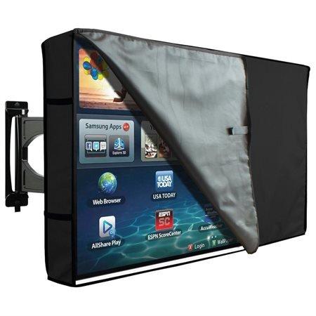 KHOMO GEAR Hülle Bezug für Fernsehen Wetterfestes Cover für TV Schutz für den Maßen 50 51 52 Zoll für LCD, LED, OLED und Plasmageräte Kompatibel mit Standardständern - Schwarz Black 50-52 - 1080p Zoll Plasma 50