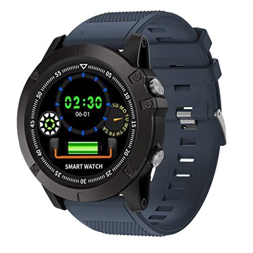 Intelligente Uhr Sportuhren Fitness Tracker für Laufen,Radfahren,Aktivitätstracker Sportuhr mit Bluetooth,Stoppuhr IP67 Imprägniern Sport-Uhr Smart Watch für Männer,Frauen Blau Mit Herzfrequenz (Imprägniern Sport-uhr Frauen)