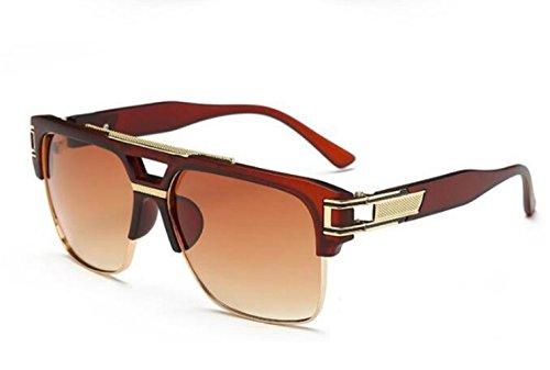 (Brown) Sonnenbrillen Männer Frauen Unisex polarisierte UV400 Modell James (Kostüm James Brown)