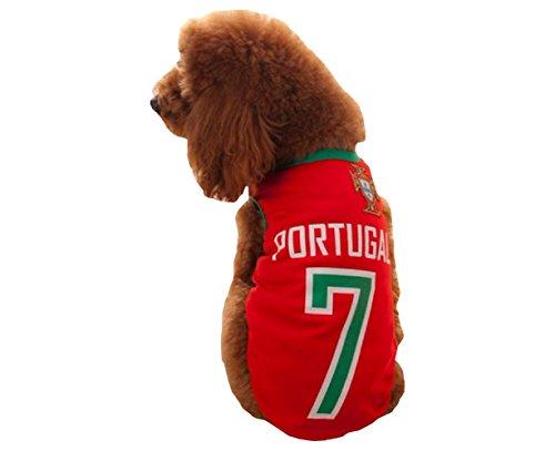 Costume squadre calcio -PORTOGALLO- per cane e gatto (XXL)