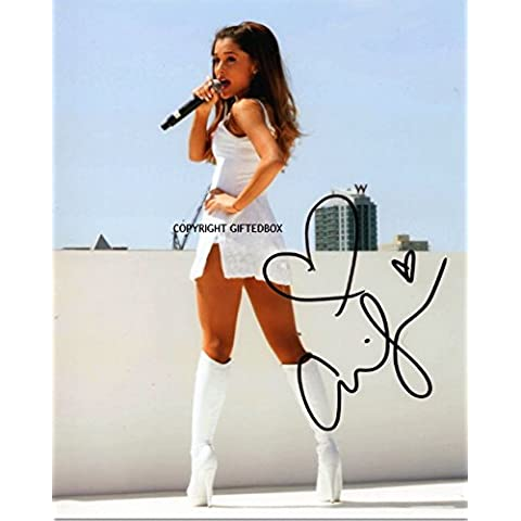 Giftedbox - Foto autografata da Ariana Grand, con certificato di firma autentica di Signiert Autogram, edizione limitata