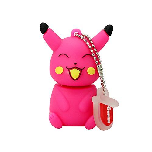 Chiavetta USB Flash Drive U Memory Stick USB 2.0 Creativo Anime Rêve Trésor Elfe Pokemon Series Cartoon Disco U 4-64 GB Alta Velocità Portatile Regalo Pikachu+C 8GB