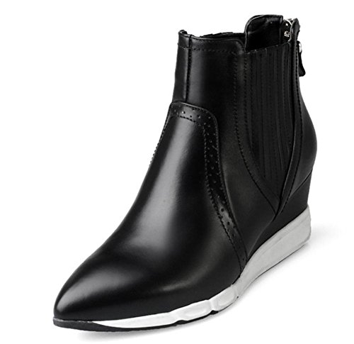 La signora Martin stivali scarpe in pista autunno con gli stivali da donna con stivali a punta nudi Black