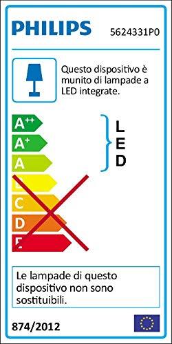 Philips Lighting Star Lampada 3 Faretti LED Integrato Orientabili, Alluminio, 3 x 4.5 W
