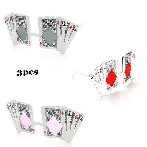 Pokerkarten Lustige Brillen Persönlichkeit Kreative Karten Lustige Requisiten Parodie Spielzeug Partyzubehör, Geschenke, Strand - Pulver, Grau, Rot