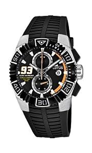 Reloj Lotus Marc Márquez 15836/1 de cuarzo para hombre con correa de caucho, color negro de LOTUS