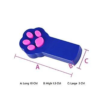 BUYDirect Paw Style Chien Chat Jouet pour les Animaux Domestiques pour les Chiens et les Chats Attrape le Interactive Lumière LED Pointeur Rouge Pot D'exercice Chaser à Outil d'entraînement
