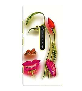Fuson Premium Floral Girl Printed Hard Plastic Back Case Cover for Nokia Lumia 920