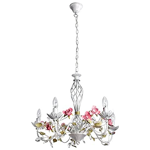 Elegant light weight pendant chandelier with flower shape decor in