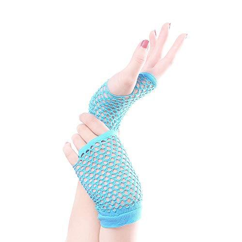 Junjiagao Dehnbare Fingerlose Neon-Netzhandschuhe (10 Paare) für Partys, Kostüme (Color : Light - Bilder Paare Kostüm