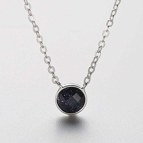 Aoligei S925 Sterling Silber Halskette Lila für Shiyin Dekoration Einfach Kleine Frische Weiblich