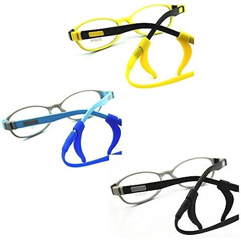 EQLEF® 2 PCS antiscivolo degli occhiali cavo Outdoor Sports cinghia del silicone Eyegalss per i bambini - Cinghia Di Fermo