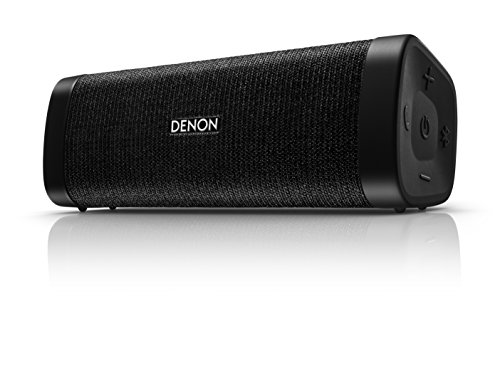 Denon Mini DSB-150BT Negro - Altavoces portátiles (4 cm, Inalámbrico, Bluetooth/3.5 mm, A2DP,AVRCP,HFP,HSP, 30 m, Negro)