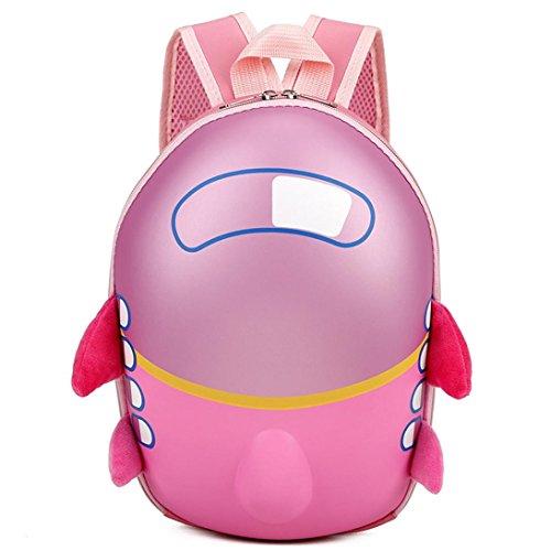 sunnymi sunnymi Unisex Gute Qualität★Kinder Harte Rucksack★Schule Baby-Kindergarten/Kinder Gartentasche/Small Aircraft Eggshell Muster /Mini Backpack Mädchen Jungen (Rosa)