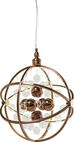 Kare Hängeleuchte Universum Copper LED, grosse, moderne Pendelleuchten mit Glaskugeln, runde Hängelampe, höhenverstellbar bis 150cm, (H/B/T) 150x48x48cm